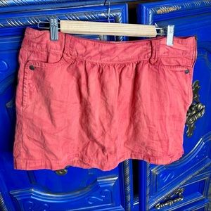Levis Orange Red Mini Skirt Side Zip Size Large